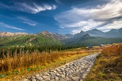 Trail to Hala Gasienicowa, Tatra mountains, Poland Stock Photos
