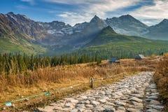 Trail to Hala Gasienicowa, Tatra mountains, Poland Royalty Free Stock Image