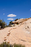 Trail to horse collar ruins Royalty Free Stock Images