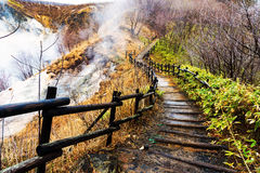 Trail to Lake Oyunuma, Noboribetsu Royalty Free Stock Image