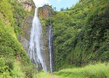Trail to Manawaiopuna Falls Royalty Free Stock Images