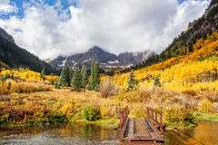 Trail to the Maroon Bells in Autumn Royalty Free Stock Photo