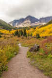 Trail to the Maroon Bells in Fall Royalty Free Stock Photo