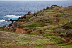 Trail to Maui's Pohaku Kani Royalty Free Stock Image