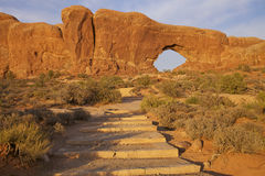 Trail to North Window Arches National Park. A scenic trail to the north window in arches national park near moab utah Stock Images