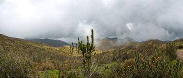 Trail to the Pichincha Volcano, Quito. Ecuador Royalty Free Stock Images
