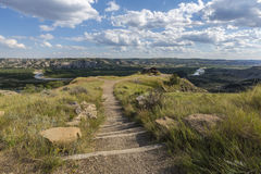 Trail To Scenic Badlands royalty free stock photography