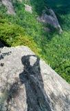 Trail to summit of Whiteside Mountain Royalty Free Stock Photos