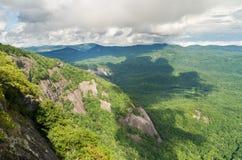 Trail to summit of Whiteside Mountain stock image