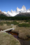 Trail to Torres del Paine Stock Photos