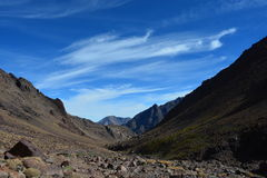 Trail to toubkal from Marrakech in Morocco. North Africa. Stock Image