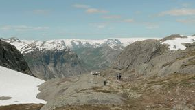 Trail to the Trolltunga. Norway. Trail to the Trolltunga of Norway stock video footage
