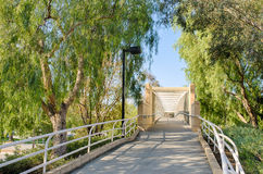 Trail to Walking Bridge Stock Photography