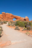 Trail to the Windows Arches N.P. Royalty Free Stock Photos