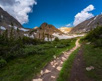 Trail towards Mt Tool and the Blue Lake Royalty Free Stock Photo