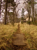 The Trail Towards Home. This image was taken at Schramm Park near Gretna, Nebraska stock photos