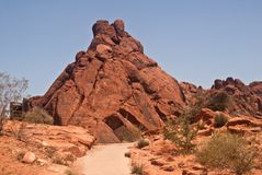 Trail in the  Valley of Fire Stock Images