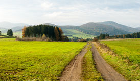 Trail in the valley of Gelängebach Stock Image
