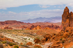 Trail View. A View from one of the many trails in The Valley of Fire State Park outside of Las Vegas Nevada Stock Photography