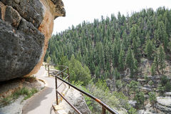Trail in Walnut Canyon. Walnut Canyon National Monument, Arizona stock image
