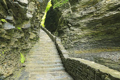 Trail in Watkins Glen Gorge Stock Images
