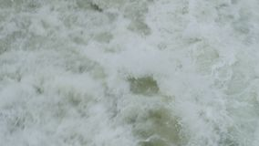 Trail of waves. Behind a ferry boat stock footage