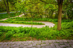 Trail at Wildwood Park, Harrisburg, Pennsylvania. Stock Photography