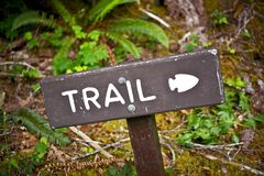 Trail Wood Sign Royalty Free Stock Image
