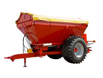 Trailed spreader fertilizer Royalty Free Stock Images