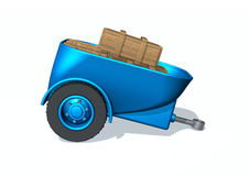 Trailer. A illustration with transport trailer on white royalty free illustration