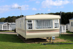 Trailer on caravan park in summer Royalty Free Stock Image