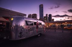 Trailer in the city Royalty Free Stock Photography