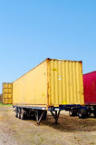 Trailer with container Royalty Free Stock Image
