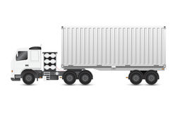 Trailer and container Royalty Free Stock Photos