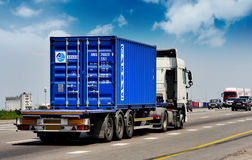 Trailer container transports Stock Images