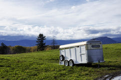 Trailer in countryside field Royalty Free Stock Photo