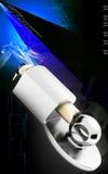 Trailer coupling lock. Digital illustration of Trailer coupling lock in colour  background Royalty Free Stock Photo