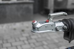 Trailer coupling system for connect with a car. stock images