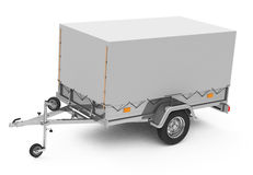 The trailer. 3d generated picture of a trailer with on a white ground vector illustration