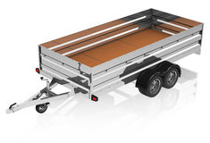 The trailer. 3d generated picture of a trailer with on a white groundn royalty free illustration