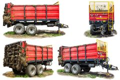 Agricultural machinery on a dairy farm. stock photography