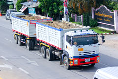 Trailer dump truck of Payawan company Royalty Free Stock Photography