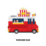 Trailer fast food vector illustration isolated Royalty Free Stock Photography