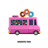 Trailer fast food vector illustration isolated Royalty Free Stock Images