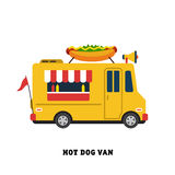 Trailer fast food vector illustration isolated Royalty Free Stock Photos