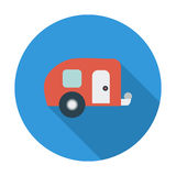 Trailer. Flat vector icon for mobile and web applications. Vector illustration stock illustration