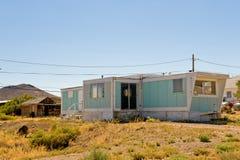 Trailer in Goldfield desert Stock Images