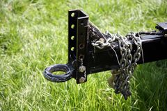 Trailer hitch. Weathered trailer hitch royalty free stock photos
