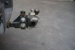Trailer Hitch Ball. Used to connect a trailer to vehicle royalty free stock photography