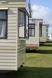Trailer homes. Mobile homes in line Stock Photography